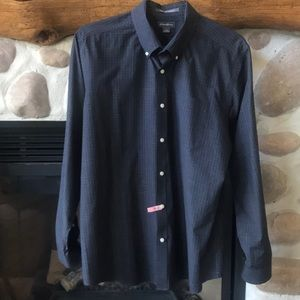 {Eddie Bauer} Navy Button Down Shirt. Size Large.